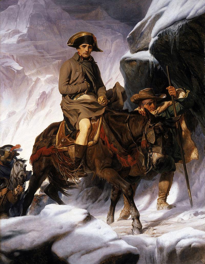 ポール・ドラローシュ、1850年 アルプス越えのナポレオン Paul_Delaroche_-_Napoleon_Crossing_the_Alps_-_Google_Art_Project_2