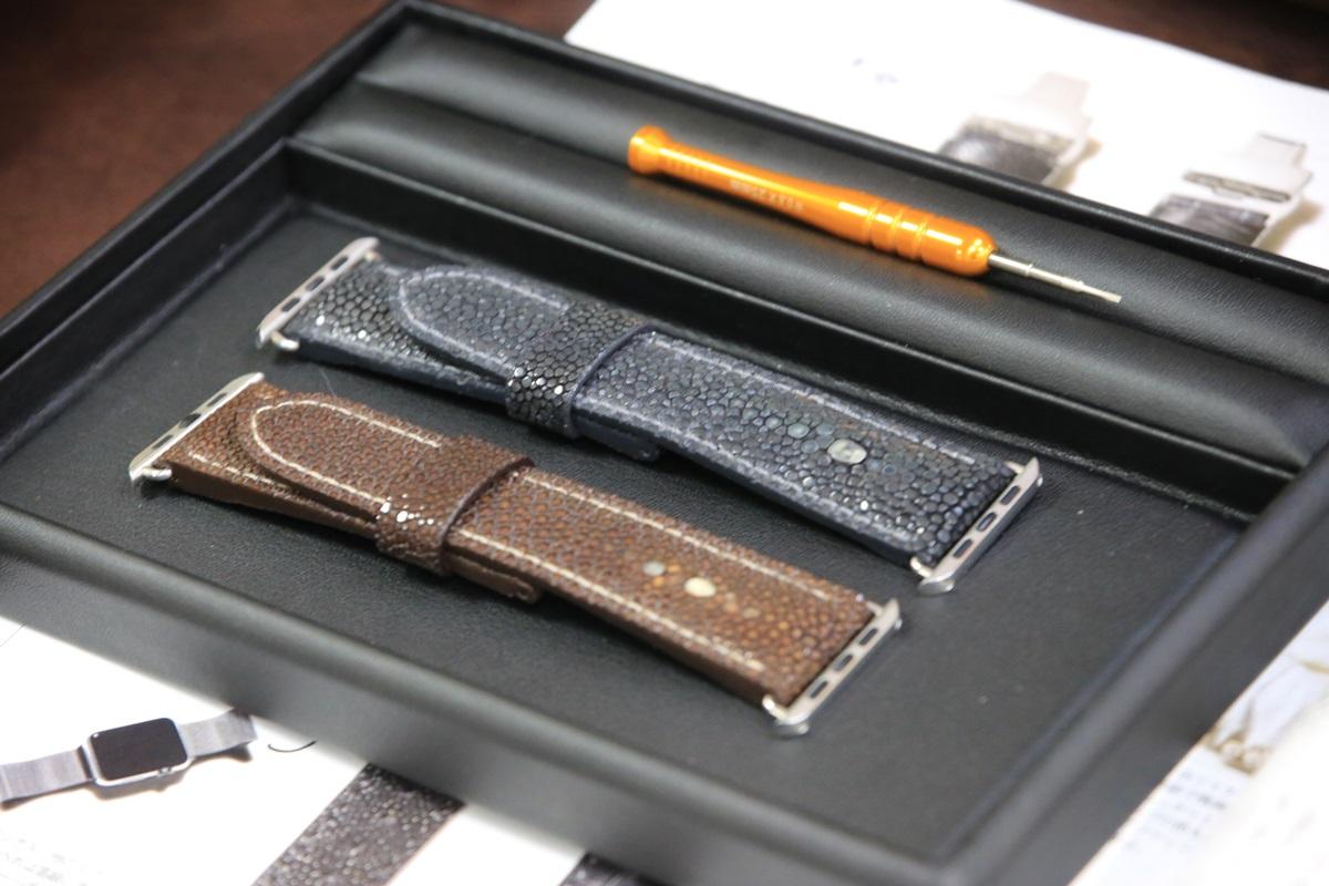 アップルウォッチ用高級革ベルト ガルーシャテイル ガルーシャ クロコ マデュロ Galuchattail_watch_belt