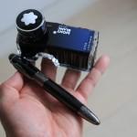 祝!モンブラン万年筆の初インク交換。