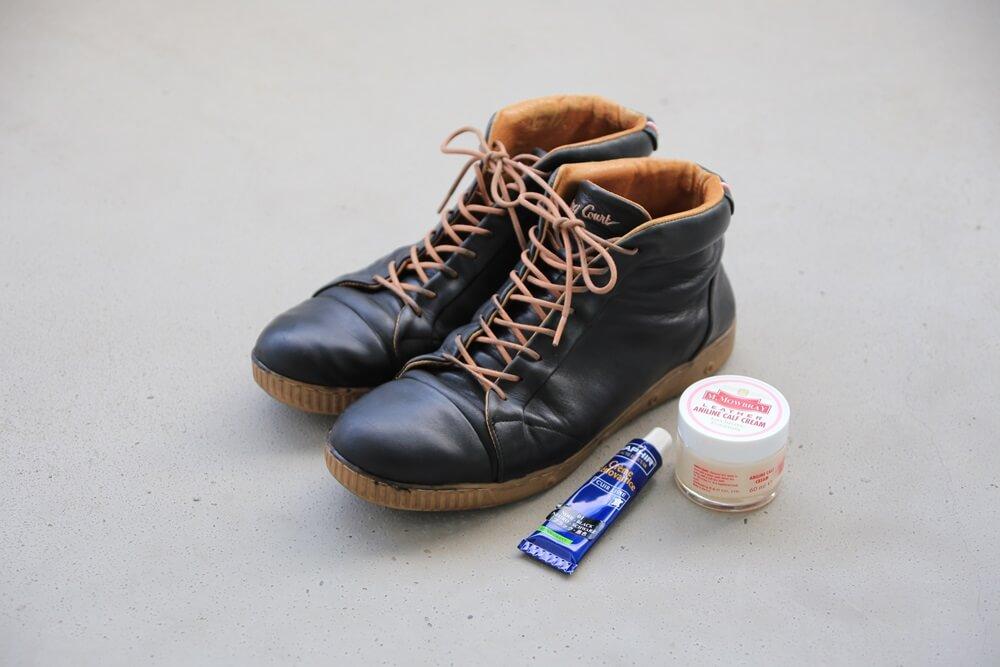 スプリングコート スニーカー サフィール 使用後 springcourt_sneaker (3)