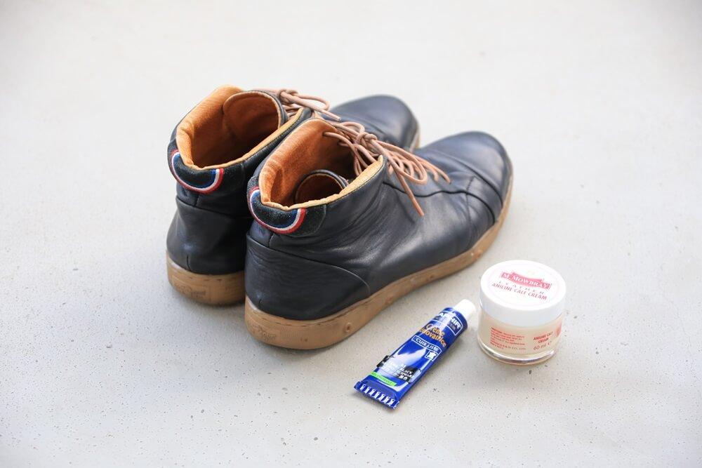 スプリングコート スニーカー サフィール 使用後 springcourt_sneaker (4)