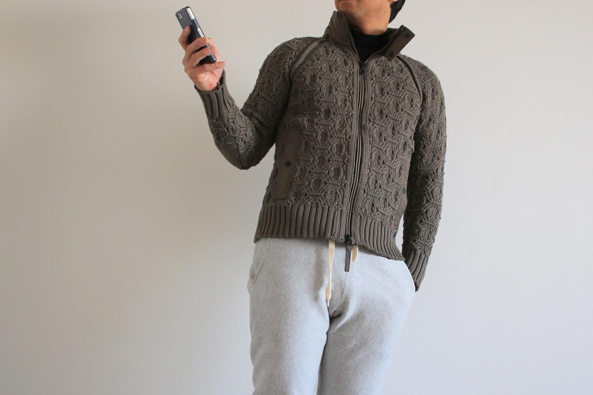 ラグラン袖 ラグランスリーブ ニットジャケット raglan sleeves_knit (1)