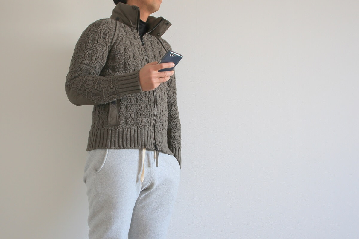 ラグラン袖 ラグランスリーブ ニットジャケット raglan sleeves_knit (3)