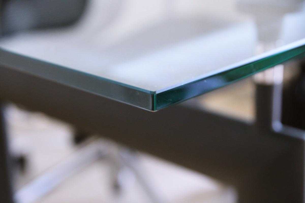 ル・コルビュジエ LC6 ダイニングガラステーブル Le Corbusier_LC6_glass_table (2)