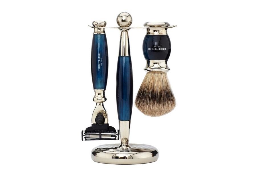 トゥルフィット&ヒル 髭剃りセット Truefitt & Hill_Edwardian Fusion Blue Horn Set (2)