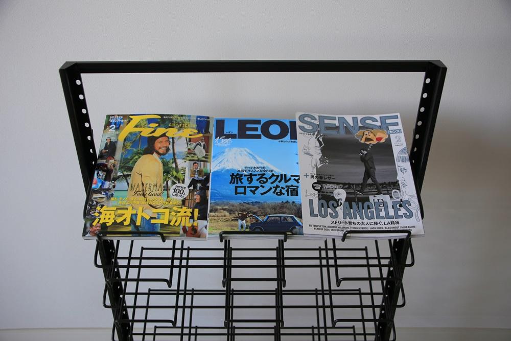 三洋スーパースタンド マガジンラック平置き【7段:ワイド】 magazine_rack (2)
