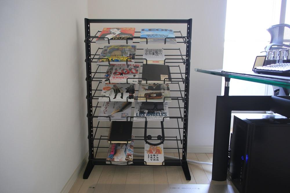 三洋スーパースタンド マガジンラック平置き【7段:ワイド】 magazine_rack (4)