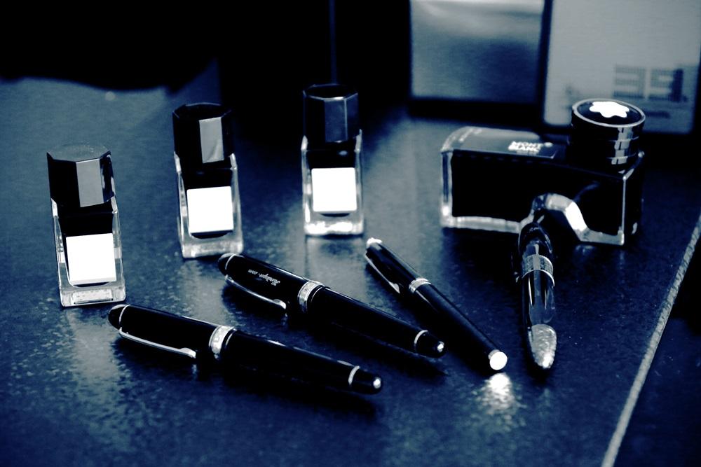 パイロットインク 色彩雫 プラチナ万年筆 #3776 センチュリー ブラック 超極細字(UEF) PNB-10000#1-9 platinum-pen (1)
