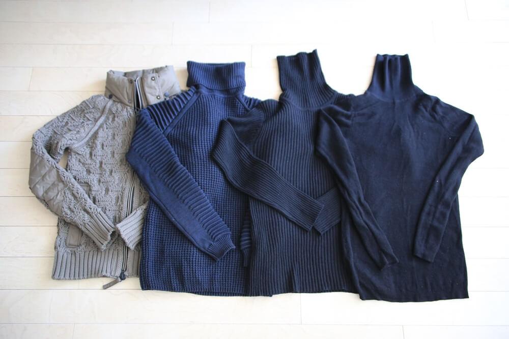 Knit_2015AW セーター ケーブル タートルネックセーター