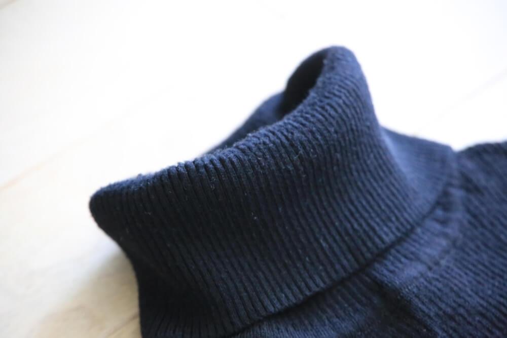 MUJI_knit (1) 無印良品 首のチクチクをおさえた洗えるタートルネック