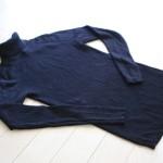 無印の洗えるセーターで涙の自爆。