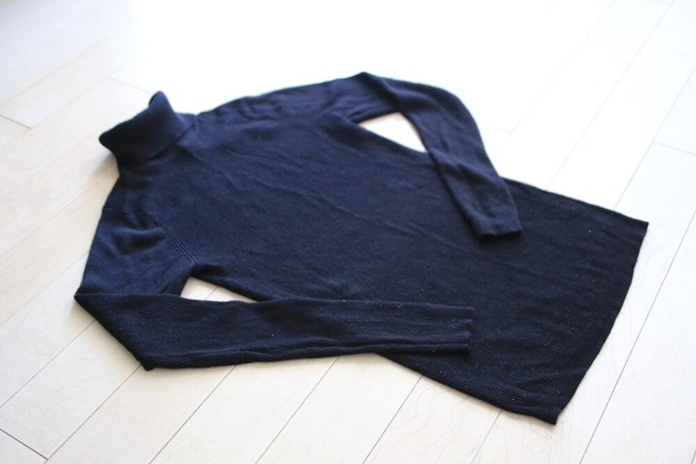 無印良品 首のチクチクをおさえた洗えるタートルネック MUJI_knit (2)