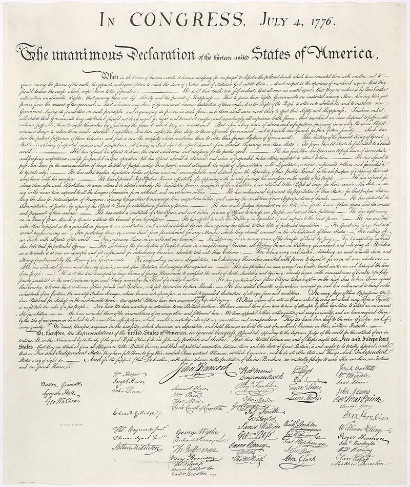 アメリカ独立宣言文書 United_States_Declaration_of_Independence