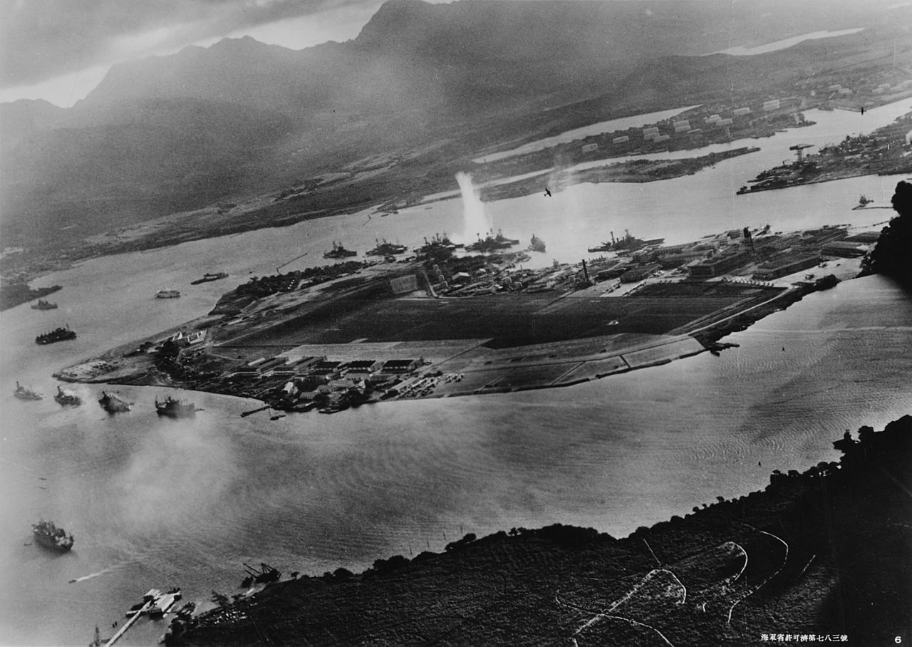 太平洋戦争 真珠湾攻撃 Attack_on_Pearl_Harbor_Japanese_planes_view