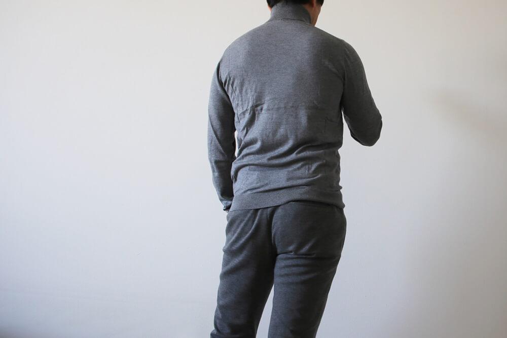 ジャブス・アルキヴィオ  giab's ARCHIVIO masaccio マサッチョ カットソーパンツ ベネトン タートルネックセーター グレー benetton_knit (2)