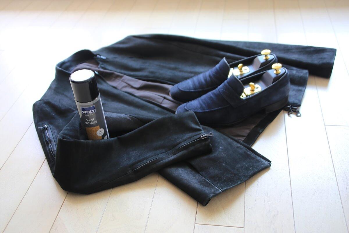 ヌバック系レザージャケットのお手入れ方法。