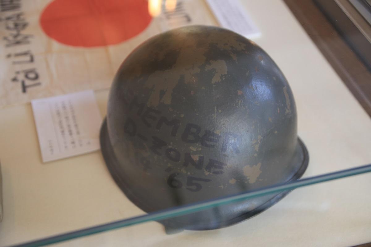ベトナム戦争従軍時に着用していたヘルメット 開高健記念館 開高健旧邸宅 kaikoken_museum (15)