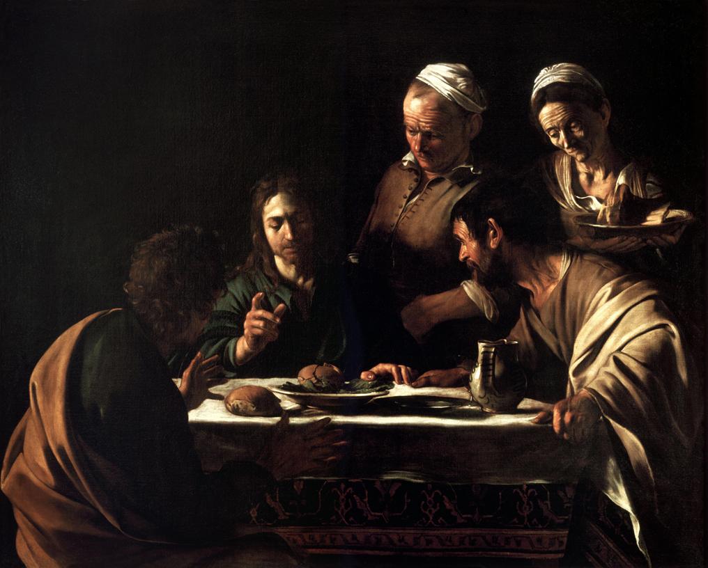 エマオの晩餐 カラヴァッジョ展 ルネサンスを超えた漢。バロック絵画の祖。 Michelangelo Merisi da Caravaggio_Emmaus