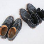 お疲れ気味の安藤製靴を救世主サフィールで補色する。