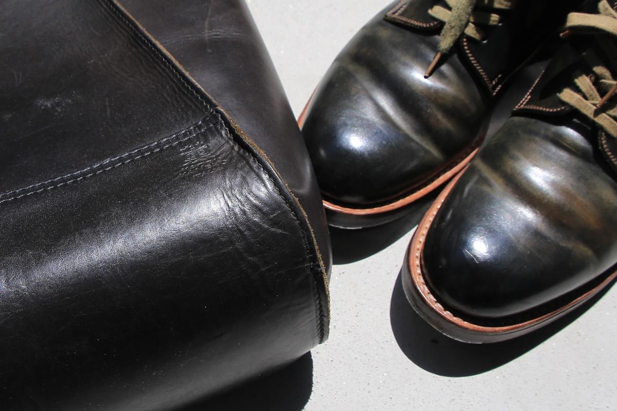 MOTO モト プレーントゥ コードバン kaoru kaneko 金子薫トートバッグ イタリアンバケッタレザー cordvan_italian_leather (2)