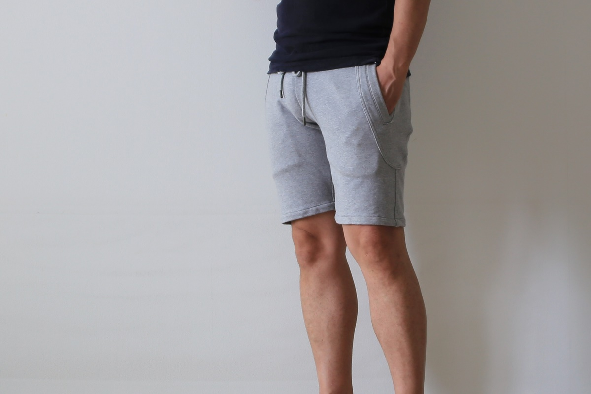 AKM(エーケーエム) solid easy shorts original stretch jerjey 【GRAY】 (スウェットショーツ) AKM_solid easy shorts original stretch jerjey (4)