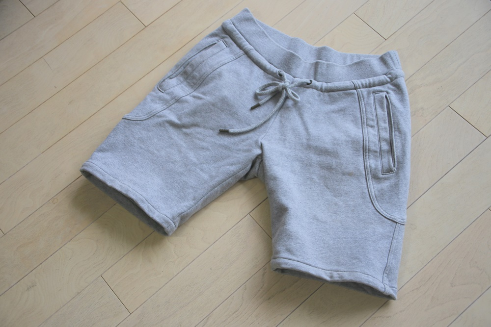 AKM(エーケーエム) solid easy shorts original stretch jerjey 【GRAY】 (スウェットショーツ) AKM_solid easy shorts original stretch jerjey (1)