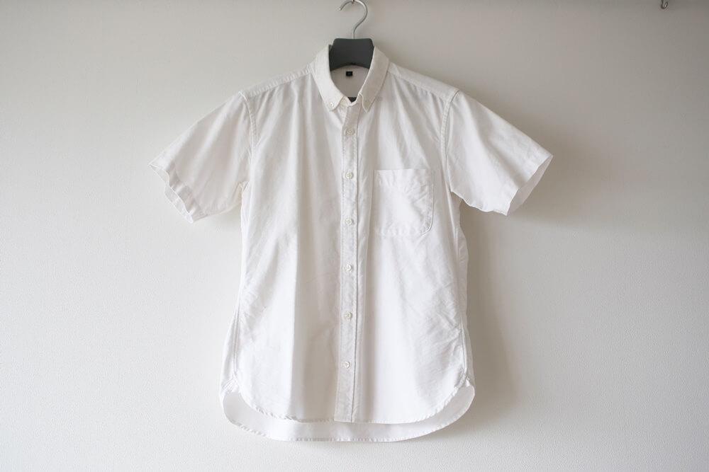 MUJI_OXFORD (1) 無印良品 オーガニックコットン・洗いざらし オックスボタンダウン半袖シャツ