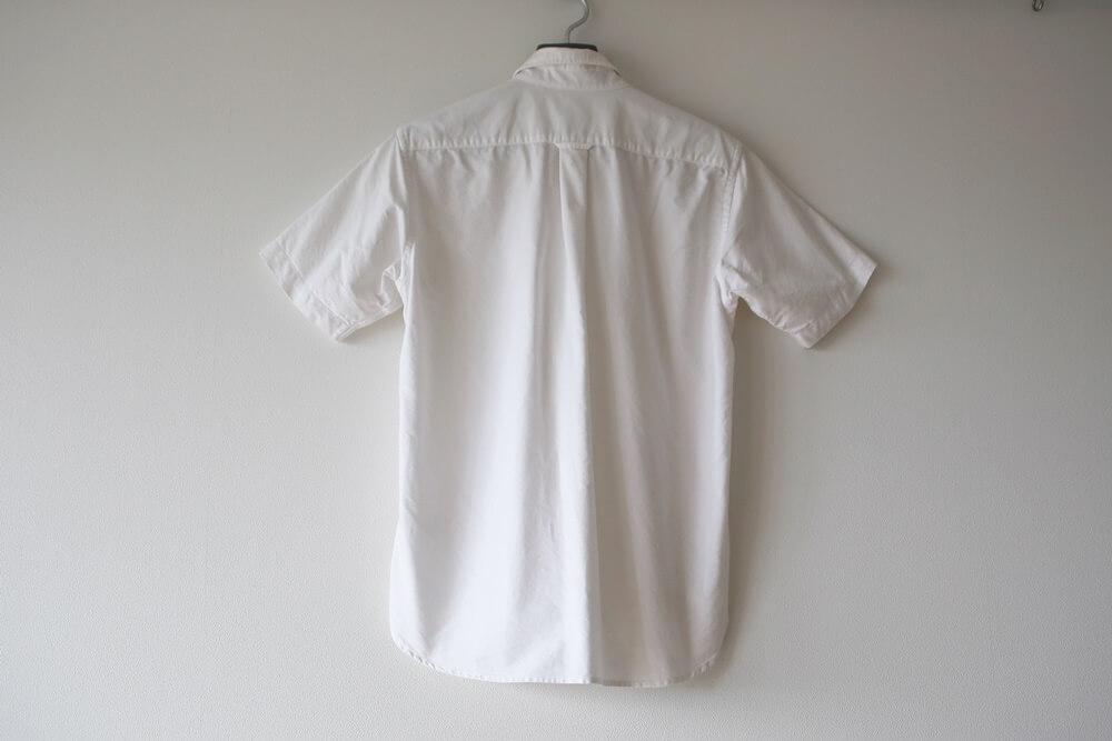 MUJI_OXFORD (2) 無印良品 オーガニックコットン・洗いざらし オックスボタンダウン半袖シャツ