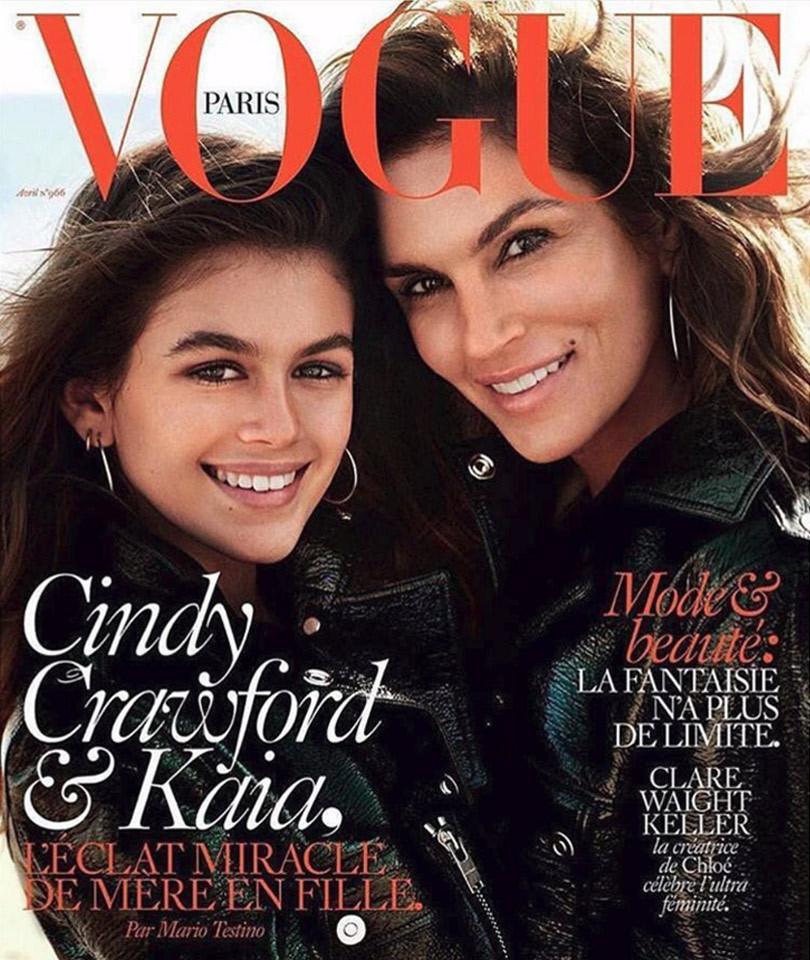 Vogue paris cindy crawford kaia gerber