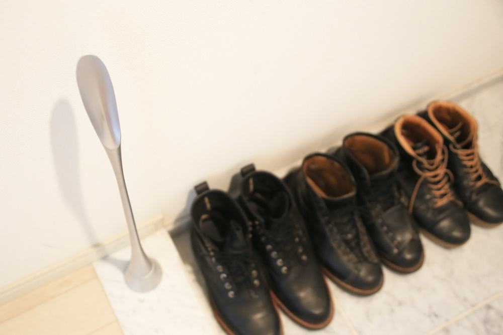 RFヤマカワ レオナルドデザイン 靴べら 靴ベラ アルミニウム YAMAKAWA_Shoehorn (2)