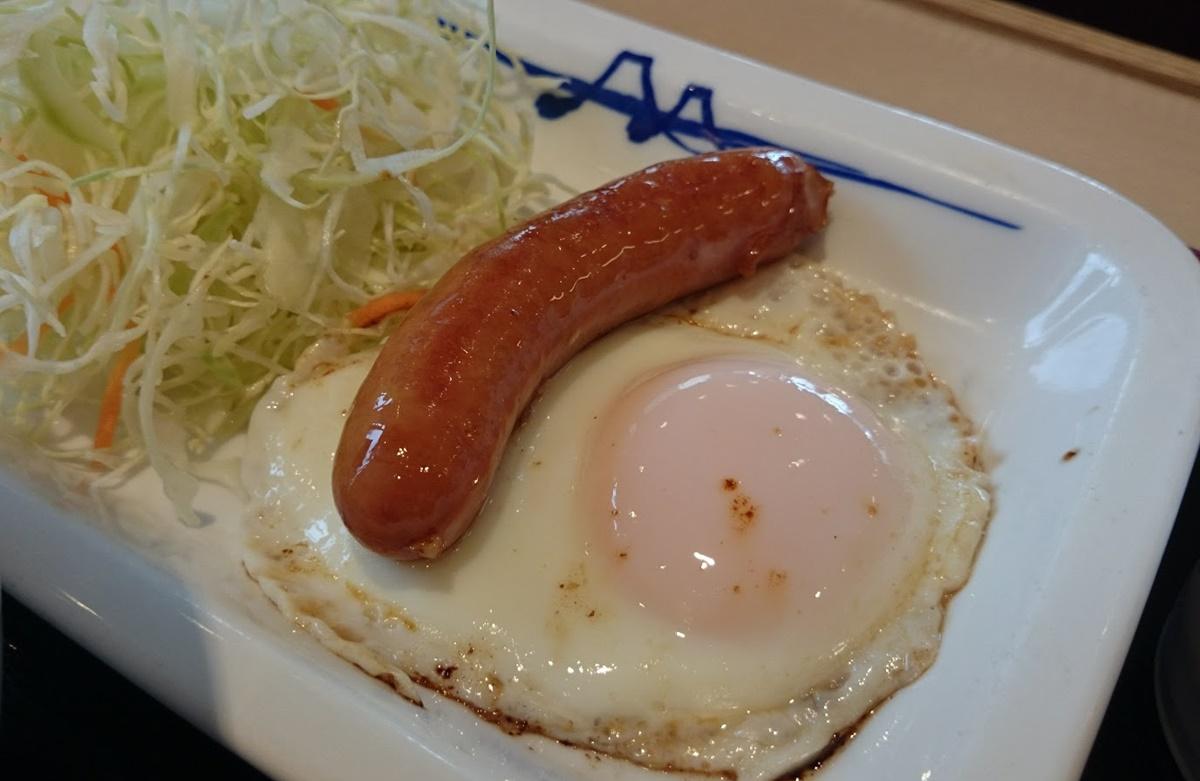 matsuya_asatei-2 松屋 ソーセージエッグ定食