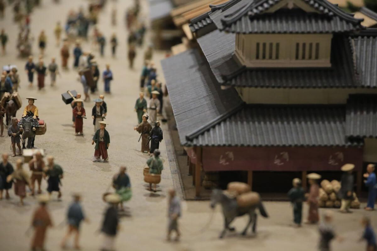 江戸東京博物館 両国 江戸初期 日本橋北詰付近町人地 ミニチュア