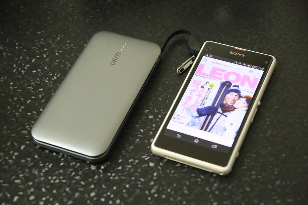 OKITI  Okiti モバイルバッテリー10000mAh 2台同時充電 3.0A 超薄型モバイルバッテリー ケーブル(lightningアダプタ付き)急速 スマホ 充電器