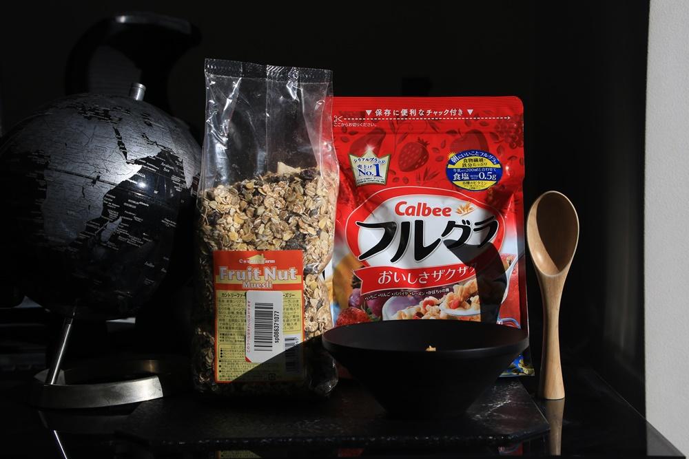 muesli_fregra 朝食 ミューズリー ヨーグルト&フルグラ
