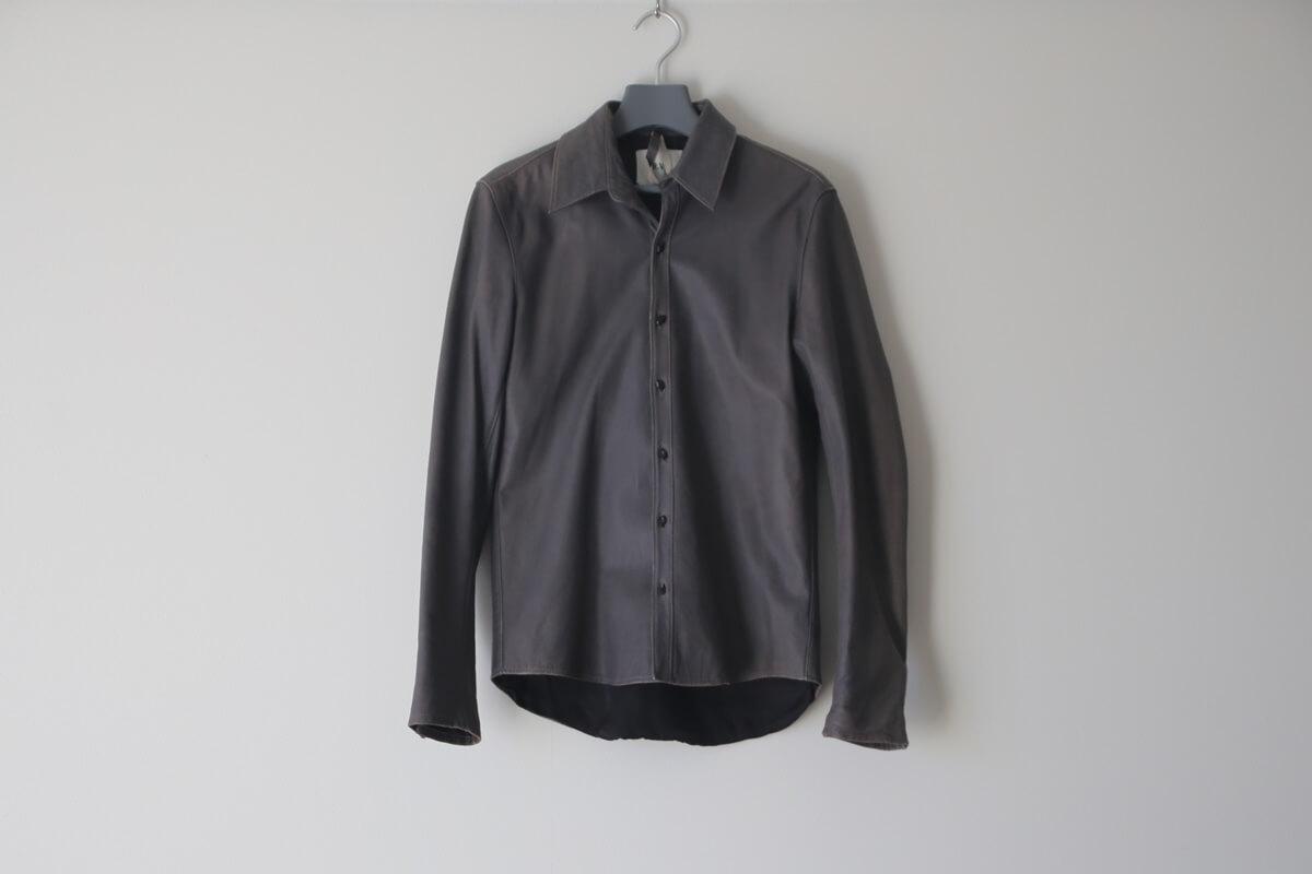 元値78,750円のレザーシャツを染め替え ⇒ 大失敗の巻。