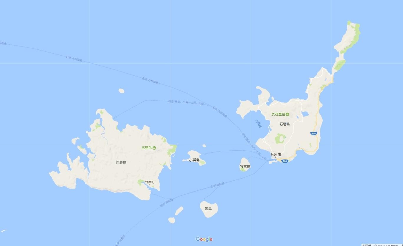 石垣島 小浜島 地図