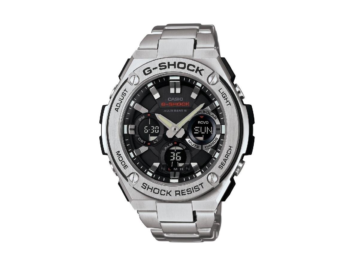 CASIO 腕時計 G-SHOCK G-STEELシリーズ 世界6局電波対応ソーラーウォッチ GST-W110D-1AJF メンズ