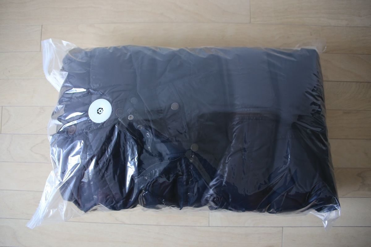 asshukubukuro (1) 簡単圧縮!超薄型バルブ式衣類圧縮袋コンパクト