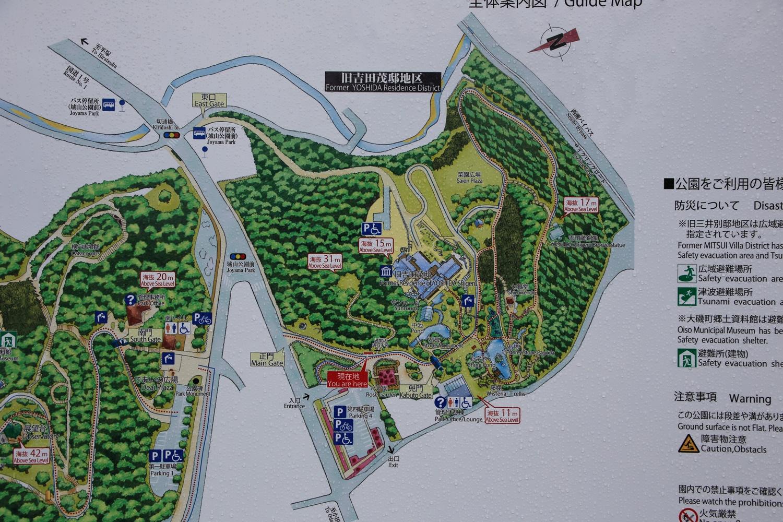 旧吉田茂邸地図 大磯 shigeru_yoshida_residence (1)