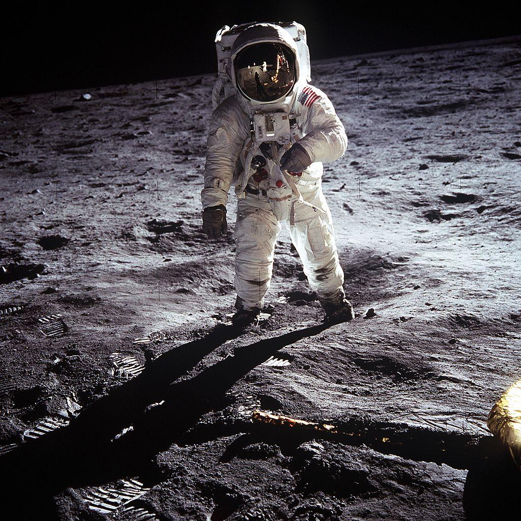 Aldrin_Apollo_11 月面着陸 アポロ11号 月面探査機イーグル