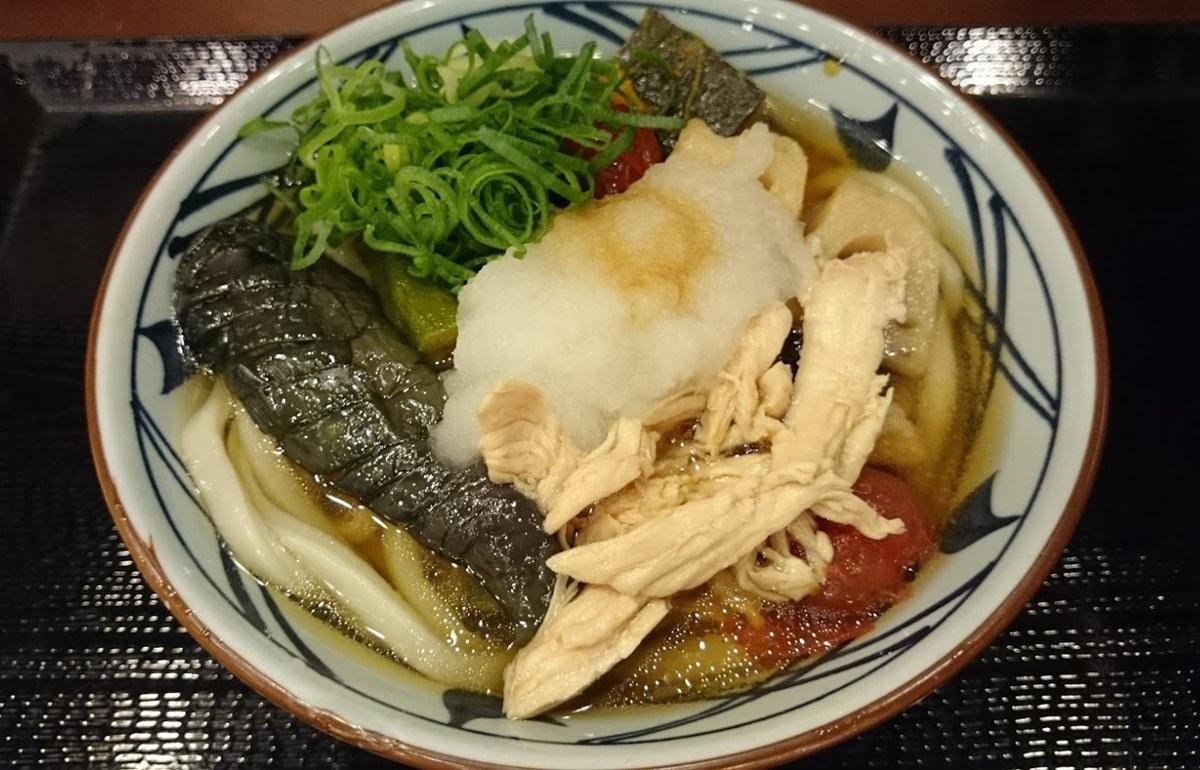 丸亀製麺 夏野菜の揚げだしうどん