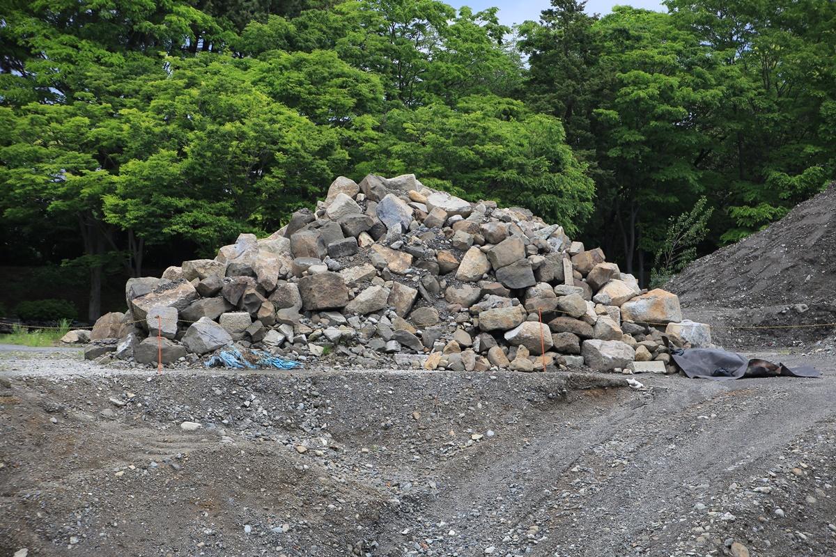 静岡県静岡市葵区 駿府城 天守閣発掘調査現場