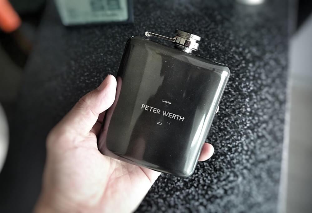 PETER WERTH(ピーターワース) ヒップフラスク(携帯用水筒)