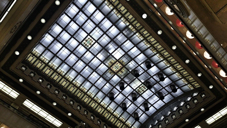 日本橋三越 天女像 天井