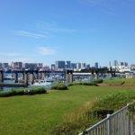 只今鋭意建設中!青海新客船ふ頭ターミナル。