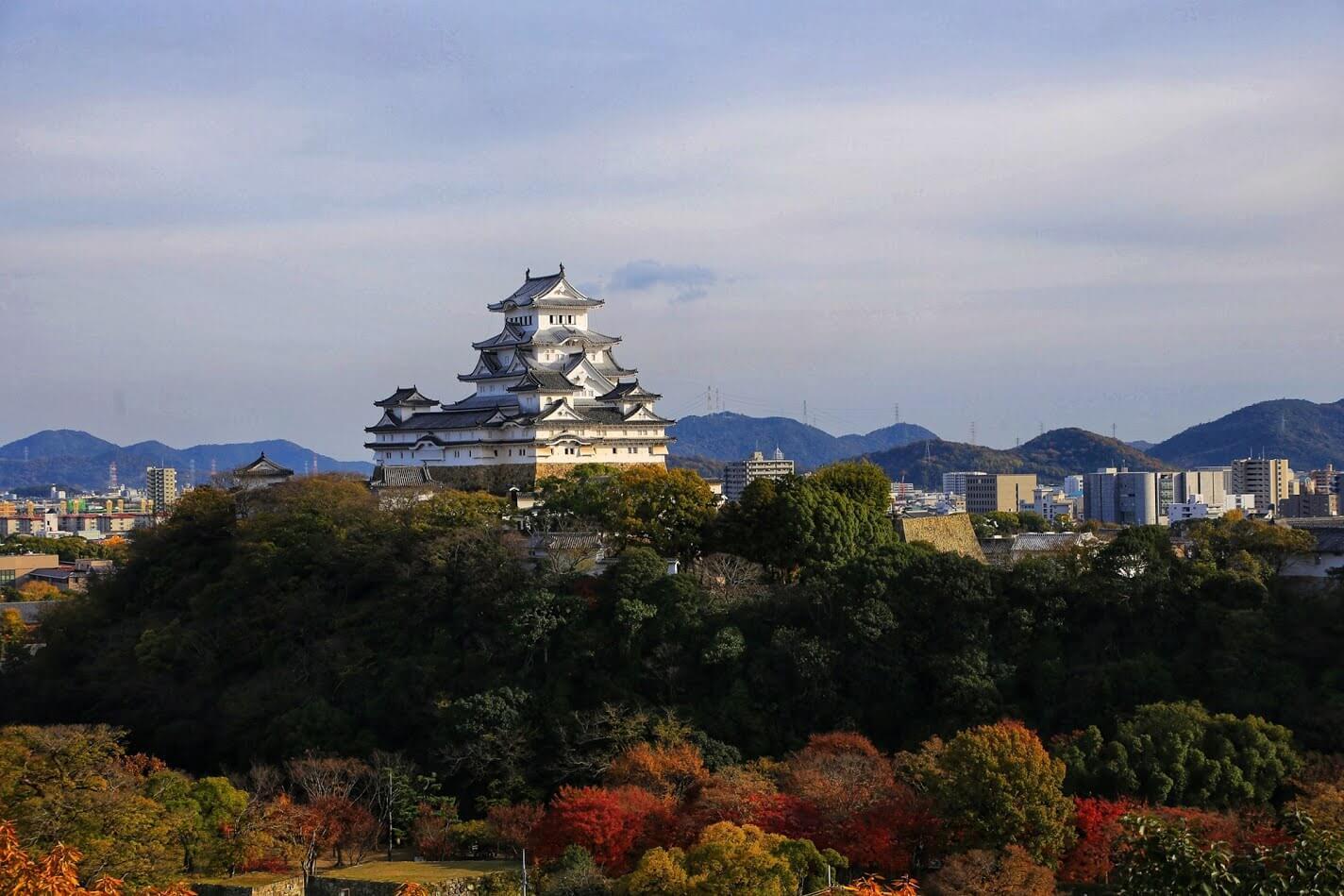 男山からの姫路城