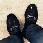 GUCCIの雨靴。