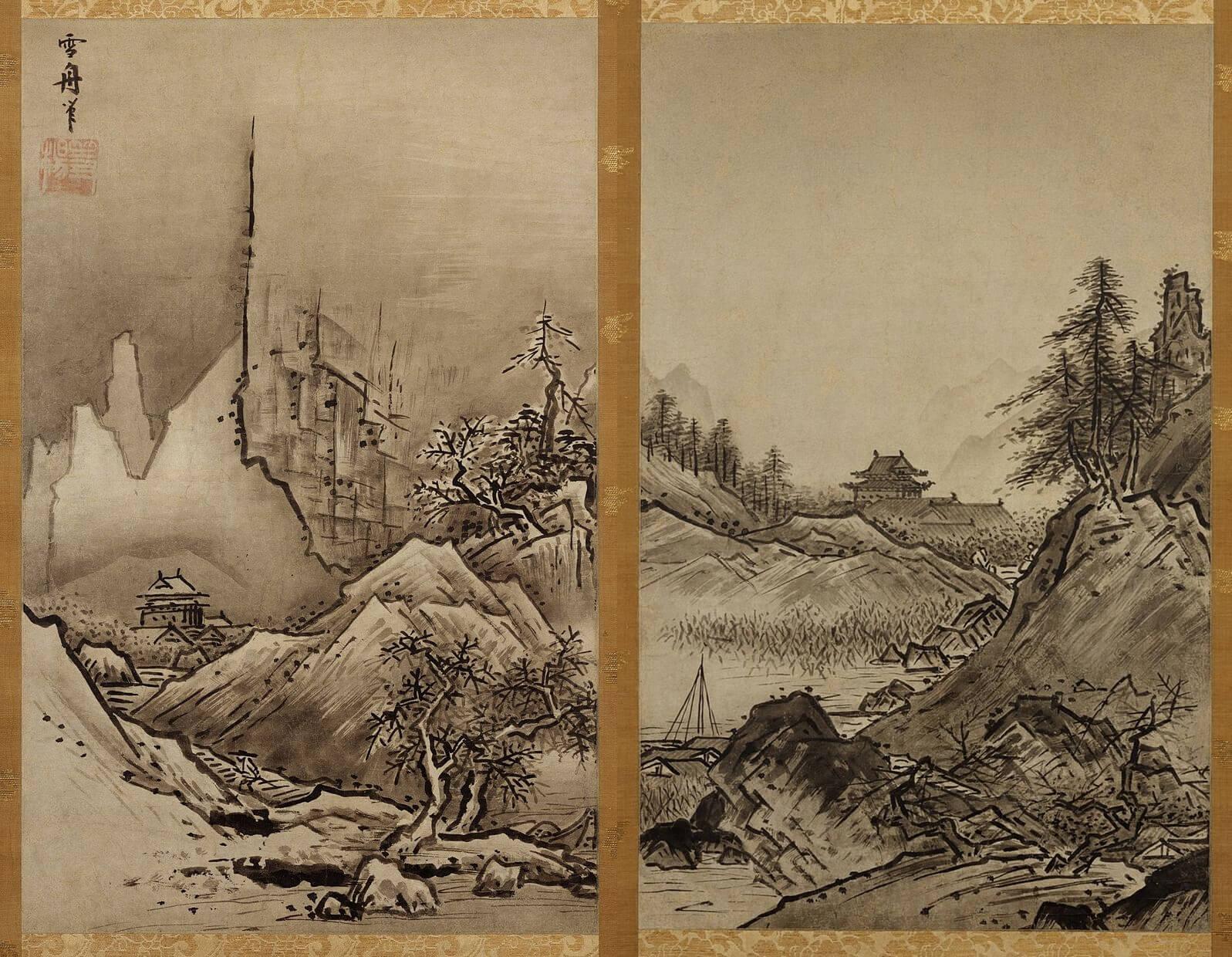 秋冬山水図 雪舟等楊筆 室町時代・15世紀末~16世紀初