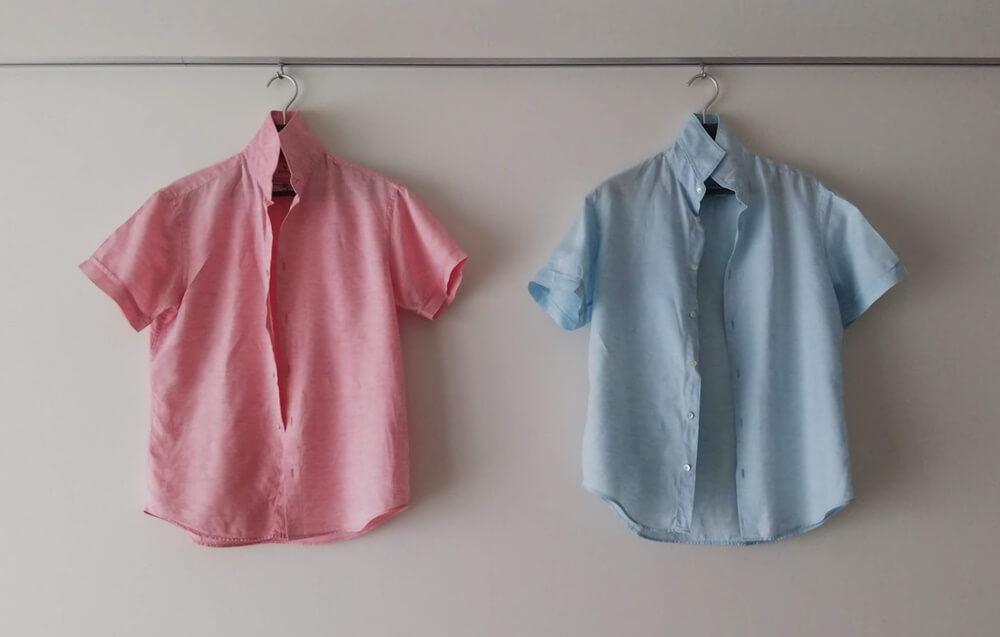 エディフィス 麻混半袖シャツ