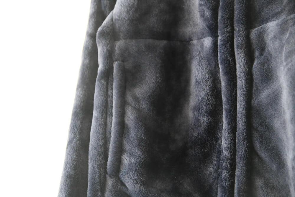 MUJI / 無印良品 あたたかファイバー着る毛布ジップアップブルゾン